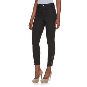 Jennifer Lopez High Rise Skinny Ankle Zipper Jeans